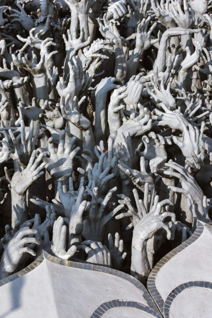 White Temple Chiang Rai Hands