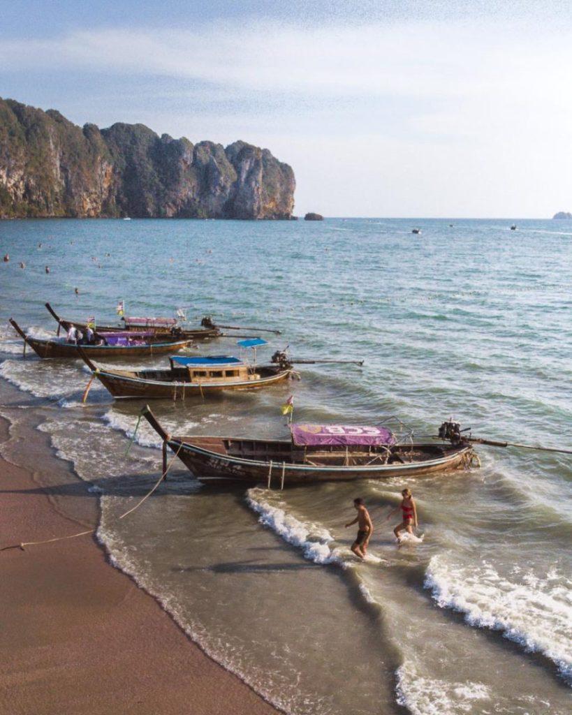 Ao-nang beach from Railay beach