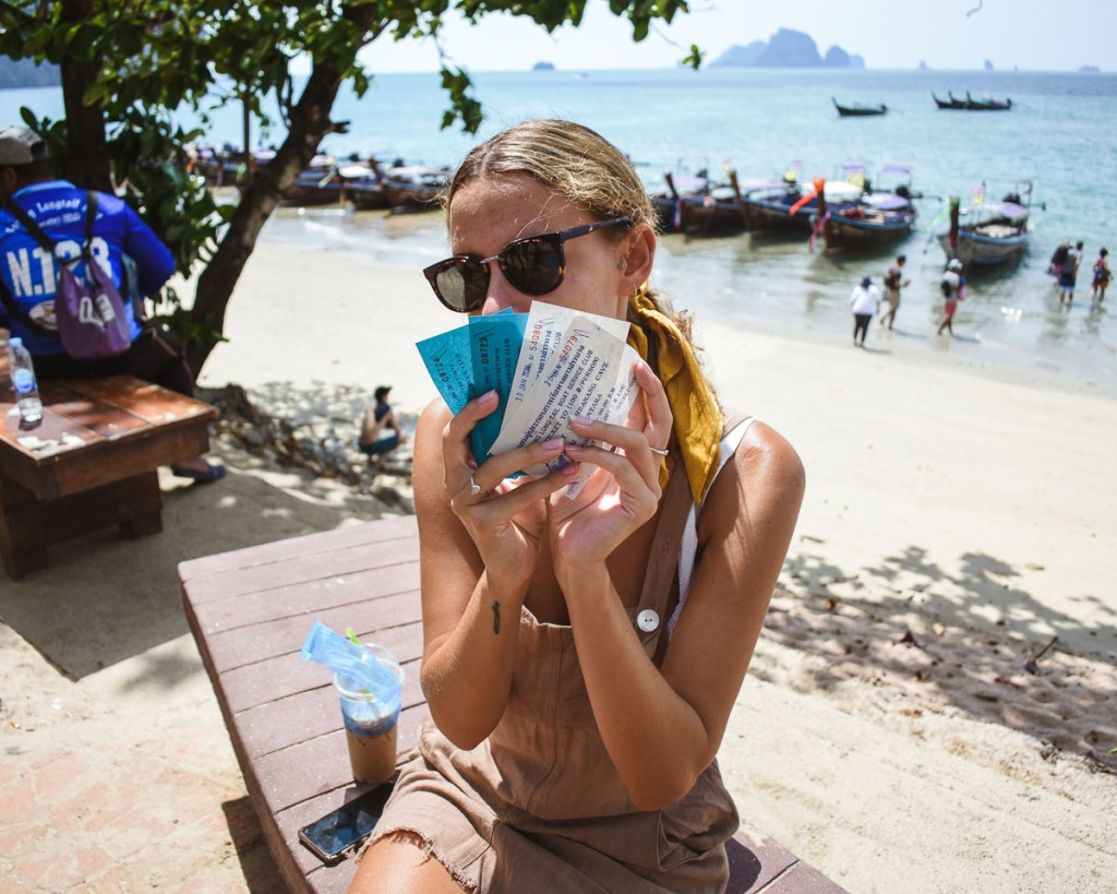 Ao nang beach return boat ticket