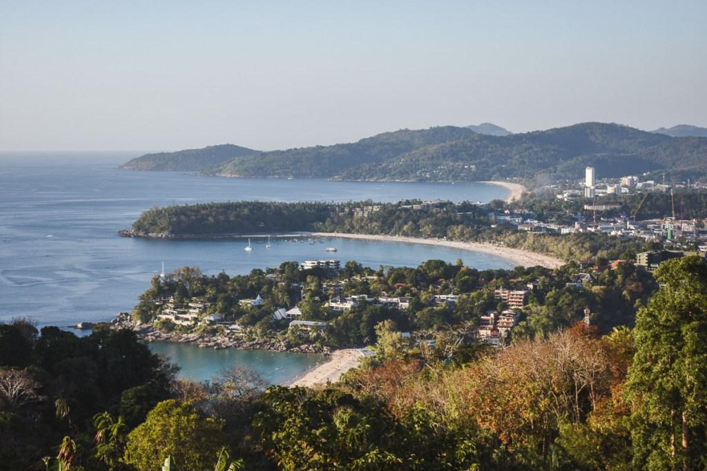 view of three beaches at Karon View Point