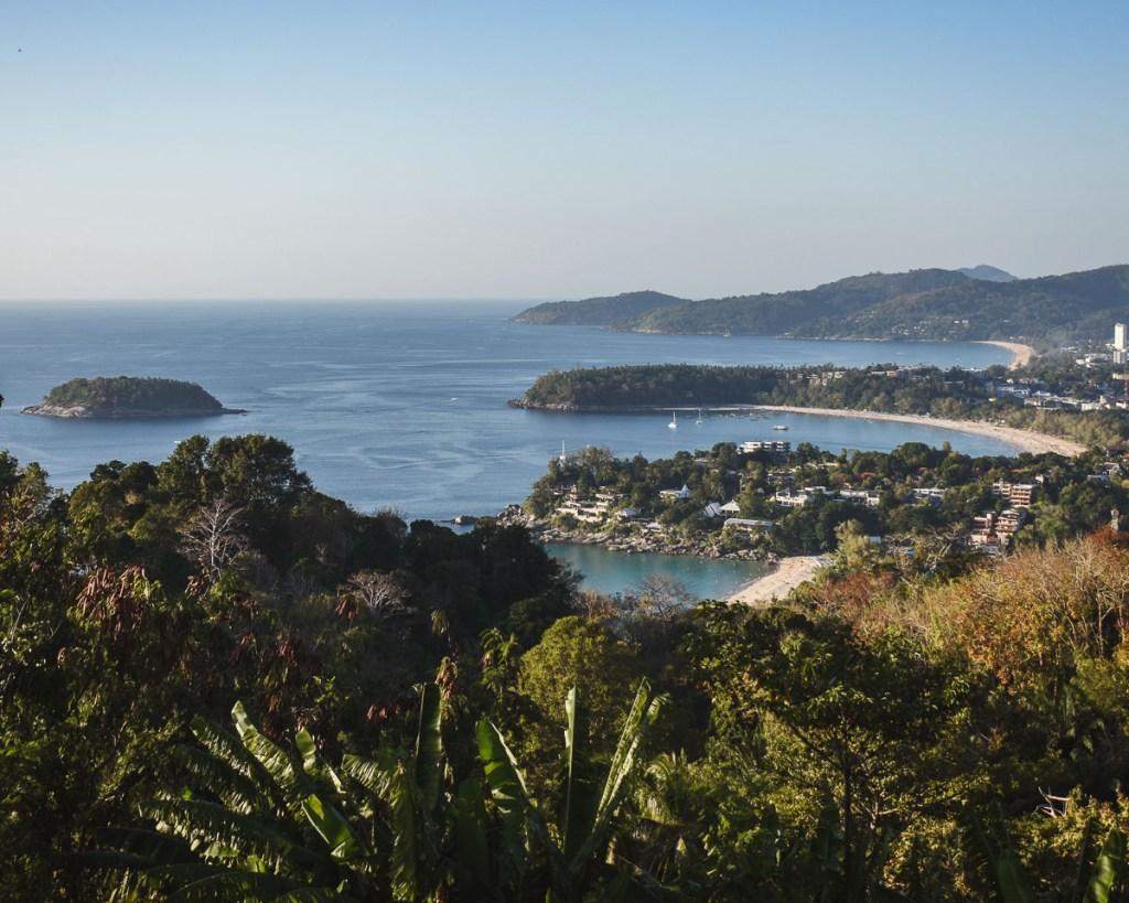 View of 3 beaches at karon viewpoint