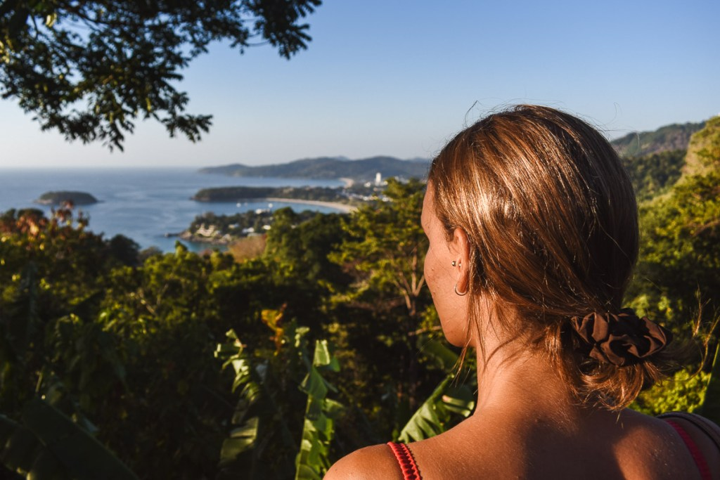 Kerrie looking out at Karon viewpoint
