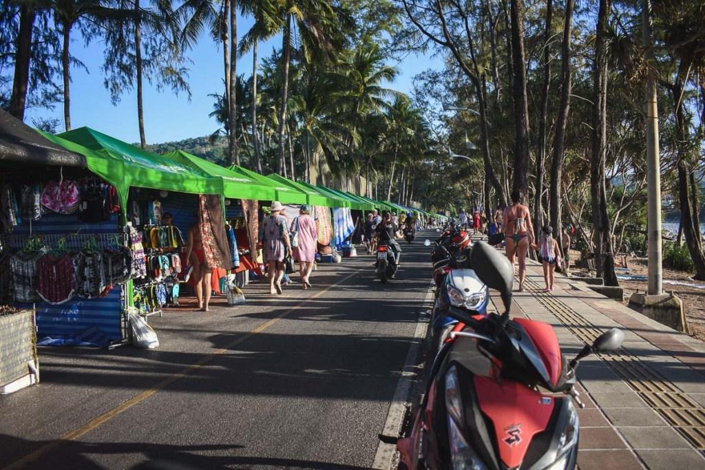 Beach side market at Kata beach