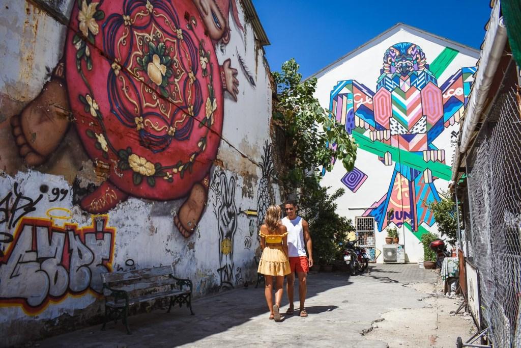 Graffiti art corner in Phuket old town