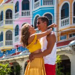 Couple in love in Phuket old town