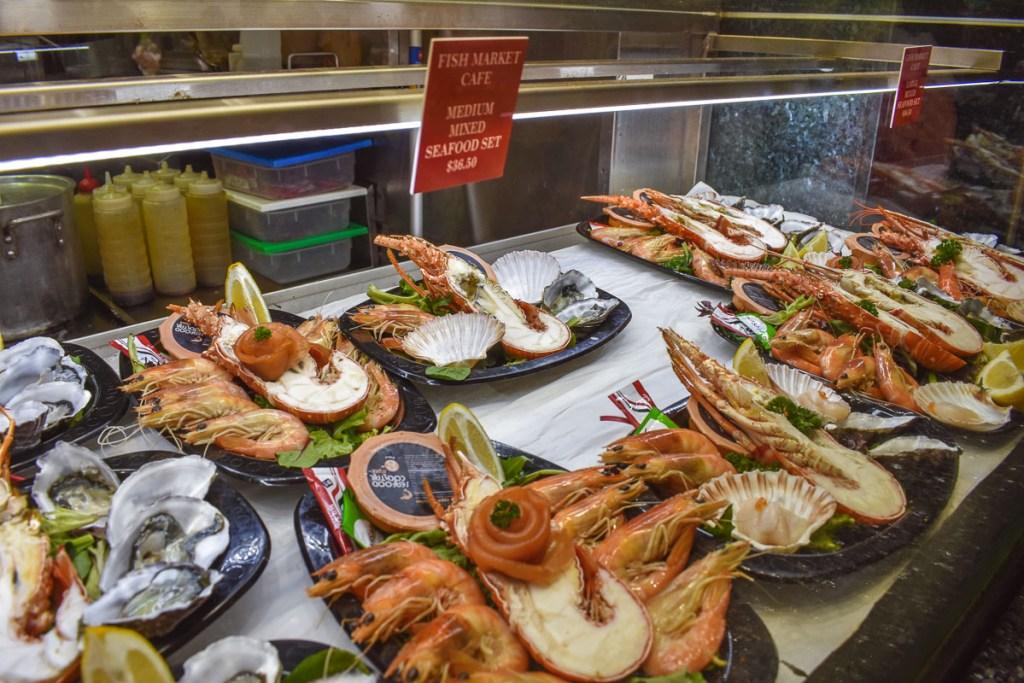 fish market cafe mixed seafood set