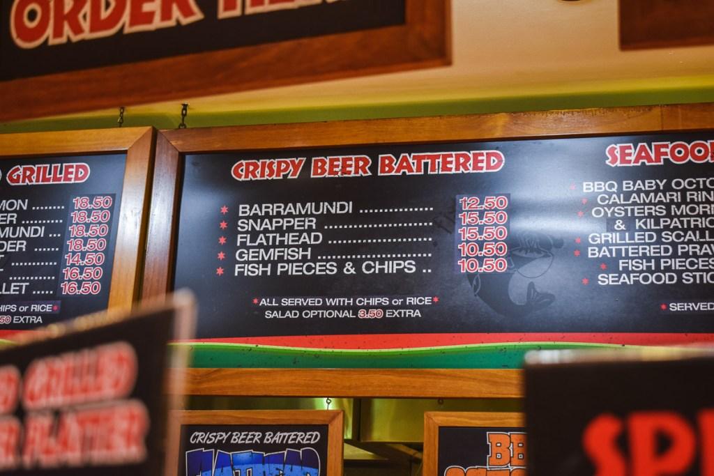 crispy beer battered fish menu