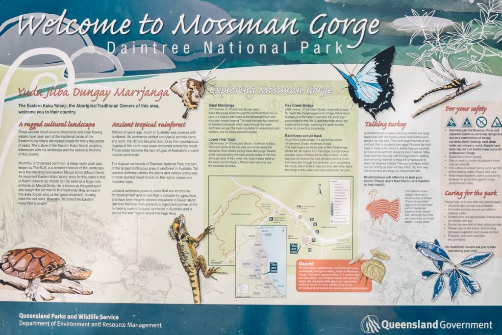 Mossman gorge daintree national park