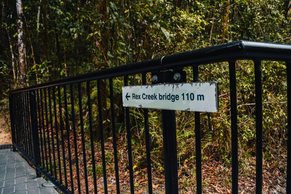 rex creek bridge sign