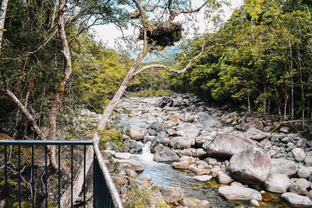 Mossman gorge stones and stream