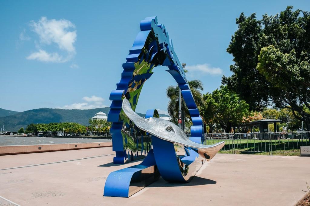 Citizens Gateway statue in Cairns