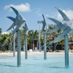 5 days in cairns itinerary - Cairns Lagoon waterfall fish