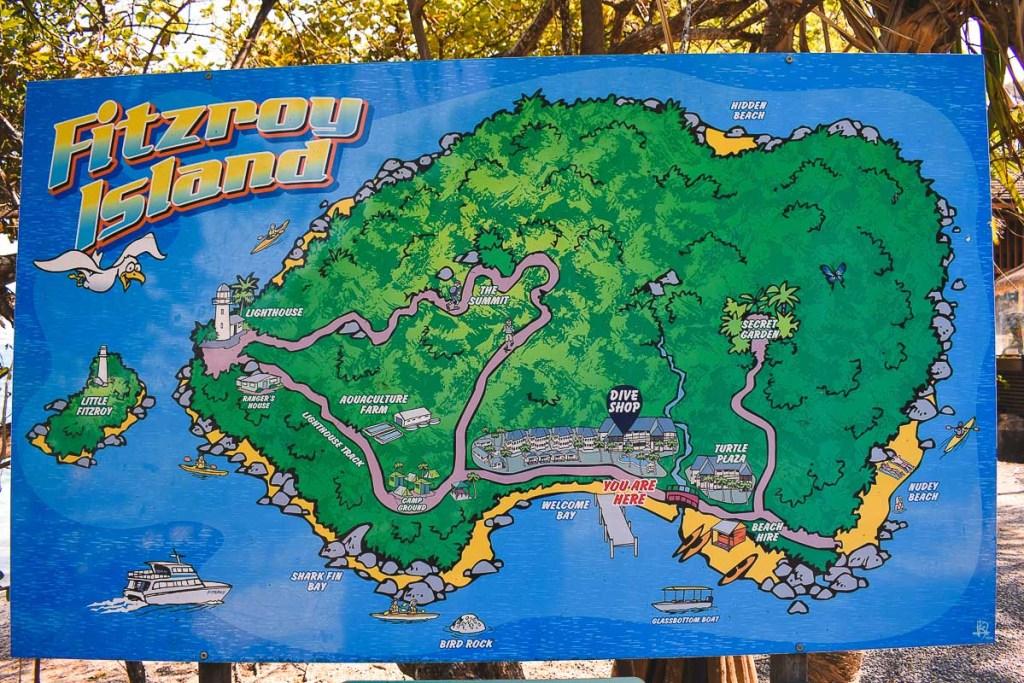 Fitzroy Island map