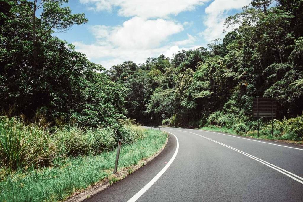 Driving to Nandroya falls