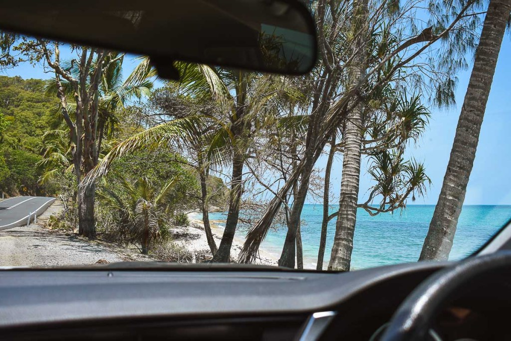 View of captain cook highway and ocean road trip