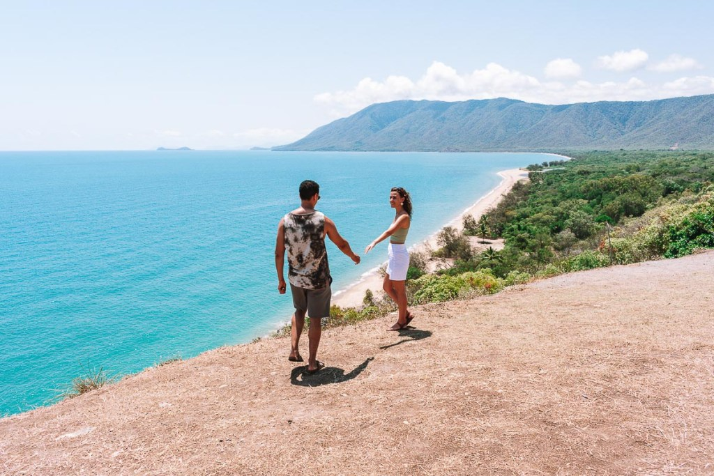 Couple walking at rex lookout point