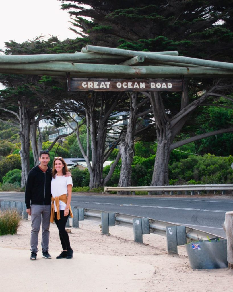 2 day great ocean road itinerary sign