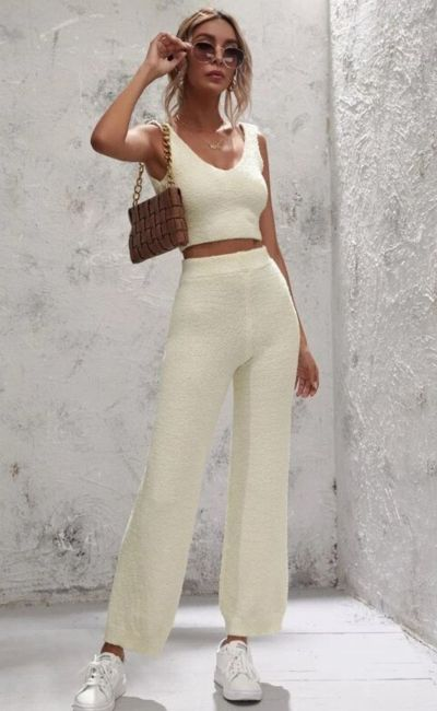 sweater with knit pants