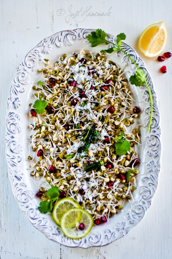 mung sprouts pom salad