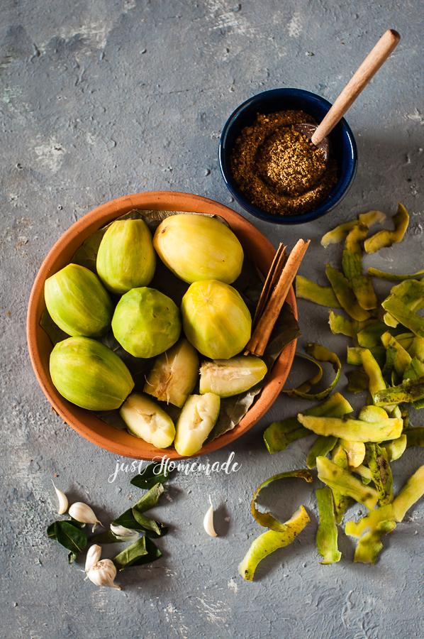 Peeled Ambarella for Srilankan Ambarella Curry