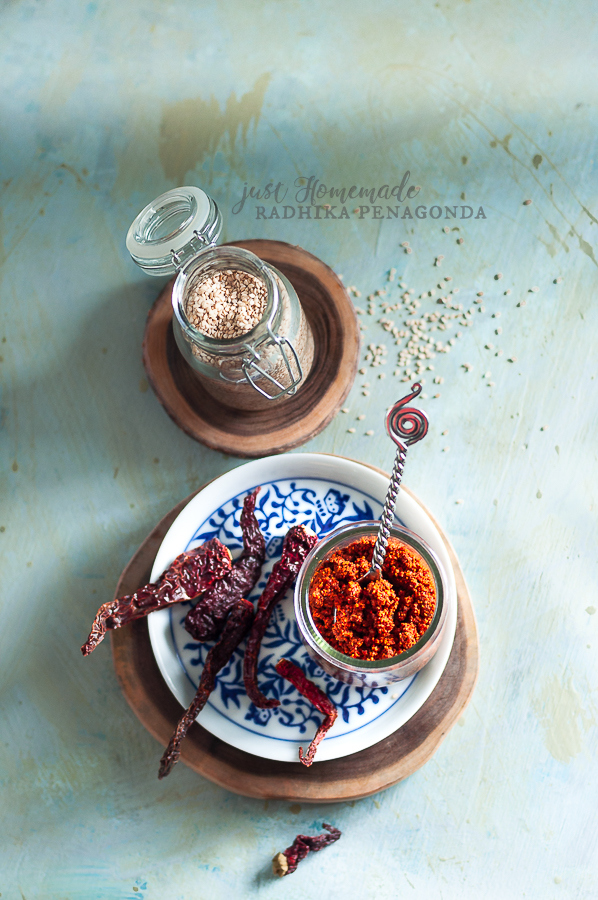 nuvvula avise podi | Andhra style roasted sesame and flax seeds powder