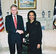 Carl Bildt and Condi Rice