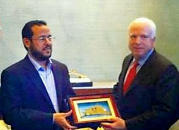 John McCain and Abdelhakim Belhaj and NATO award