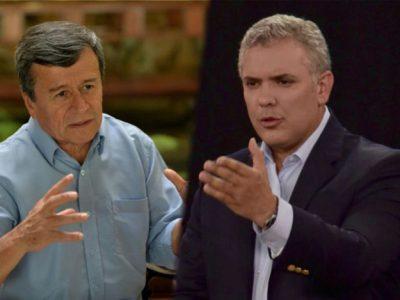 Pablo Beltrán e Iván Duque