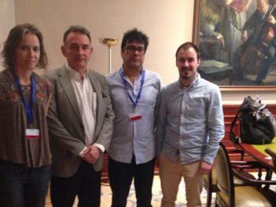 Enrique Santiago se reúne en el Congreso con Danilo Rueda y defensores de los DD.HH. en Colombia y ultima iniciativas para que el Gobierno español se implique de verdad en el Proceso de Paz
