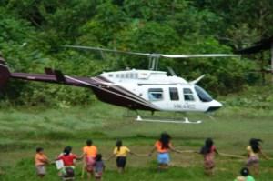 Helicóptero en Cerro Cara de Perro