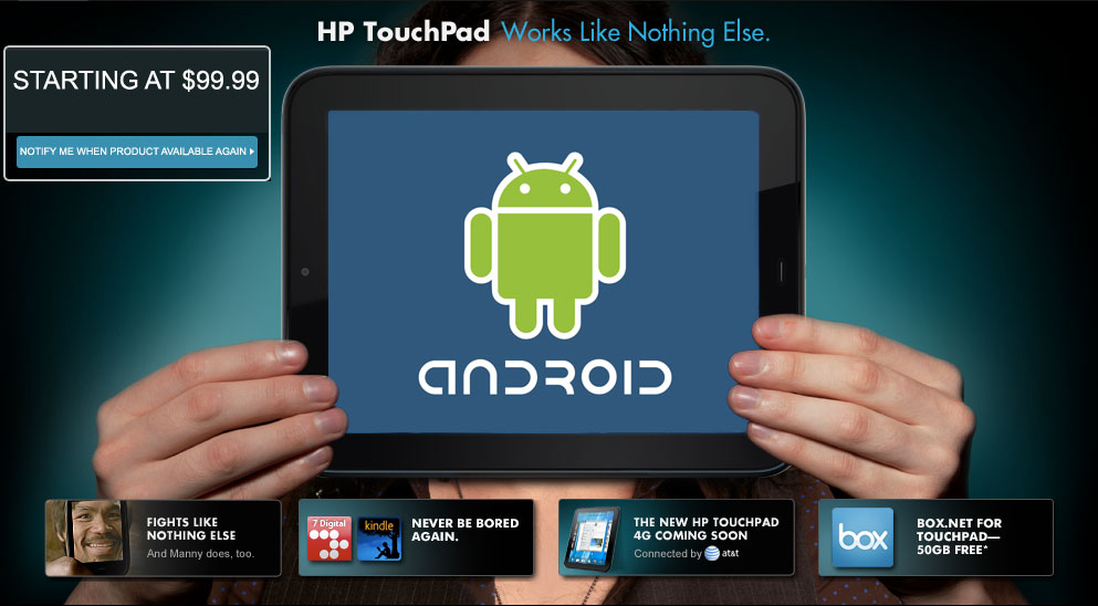 How to install Android on HP TouchPad