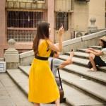 Yellow Girl in Macau