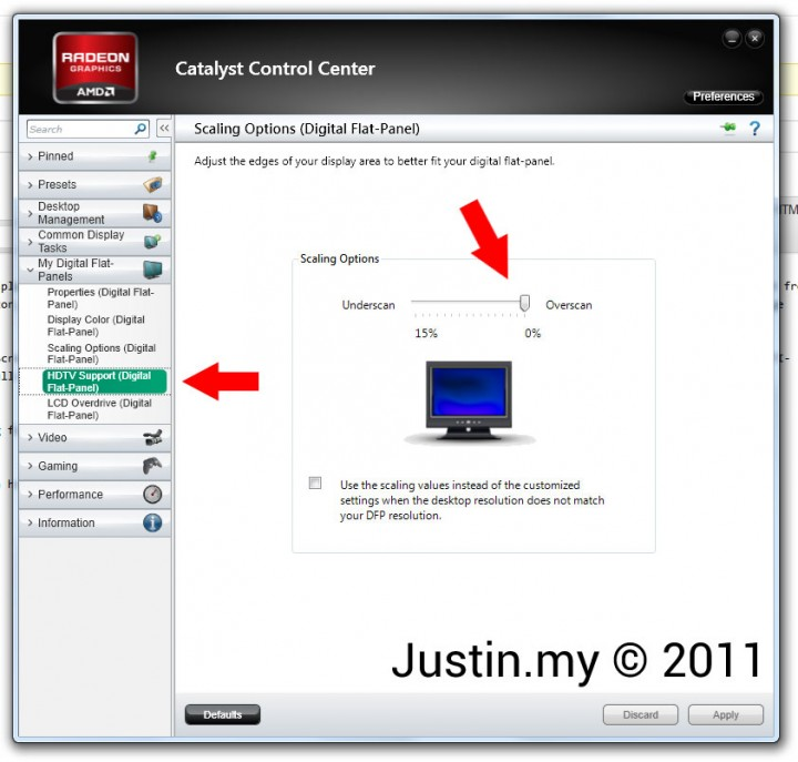 Cannot display Full Screen using ATI Radeon 2