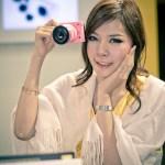 Nikon J1 Pink Color with Model