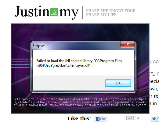 Failed to load the JNI shared library jvm.dll