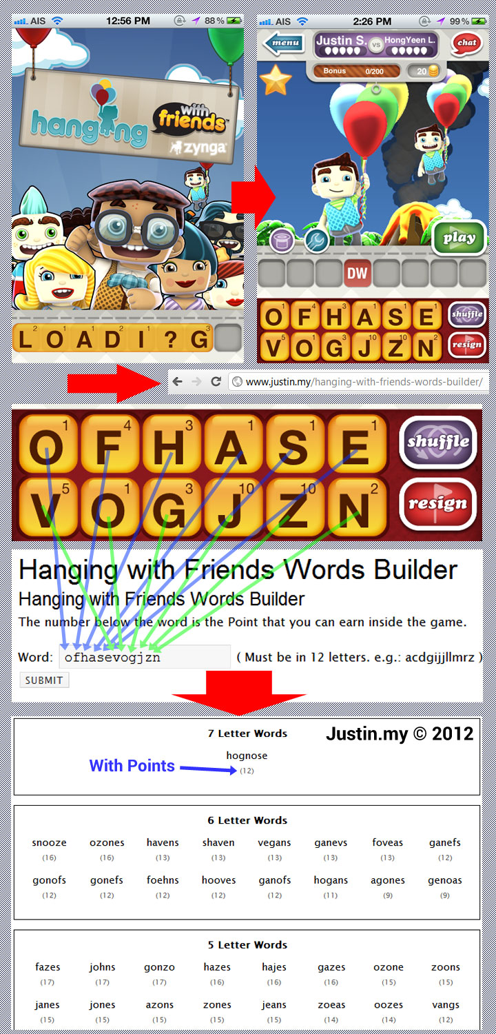 Hanging with Friends Words Builder