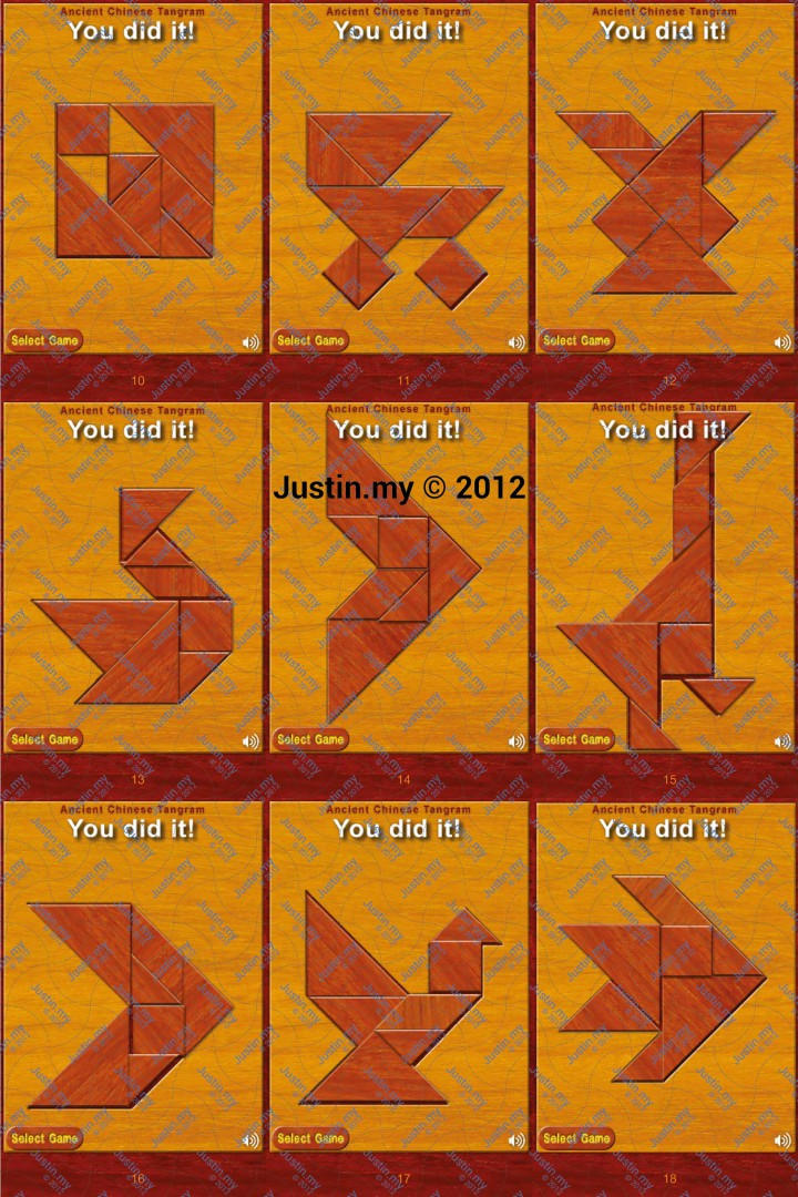 Ancient Chinese Tangram Level 10 18