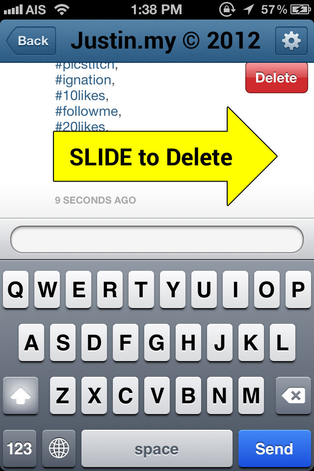Slide to Delete