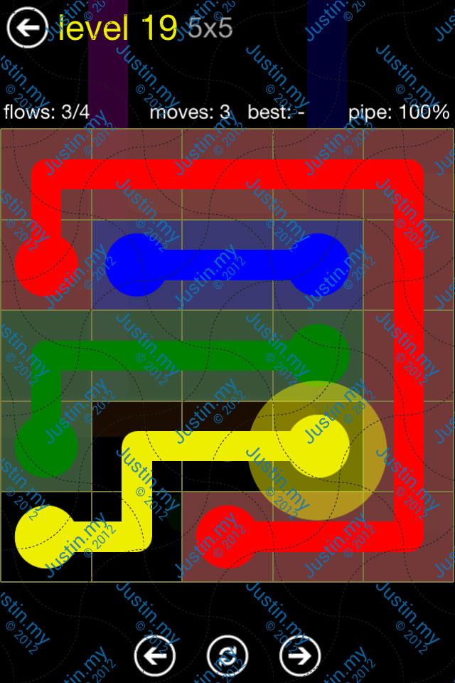 Flow Free Regular Pack 5x5 Level 19