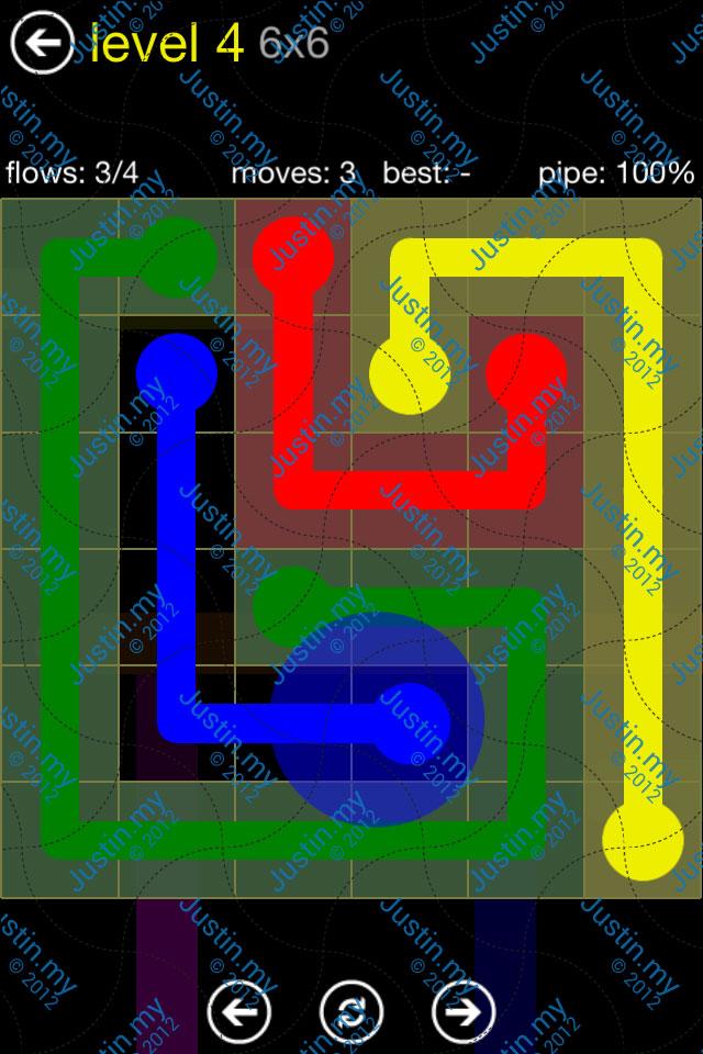 Flow Free Regular Pack 6x6 Level 04