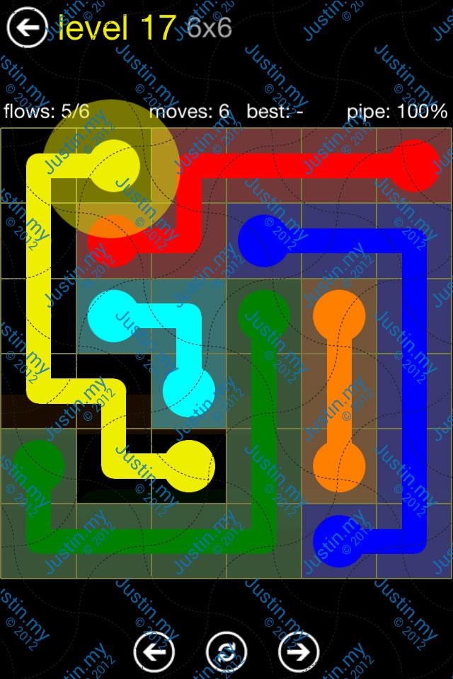 Flow Free Regular Pack 6x6 Level 17