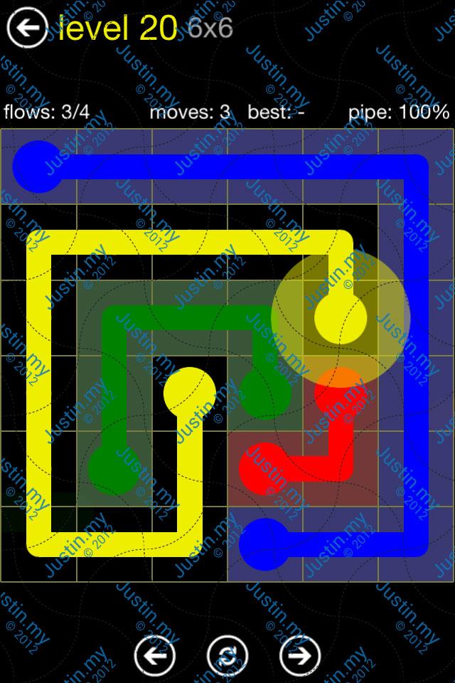 Flow Free Regular Pack 6x6 Level 20
