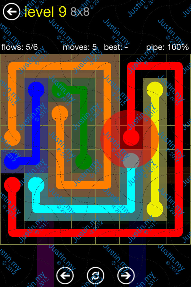Flow Free Regular Pack 8x8 Level 09