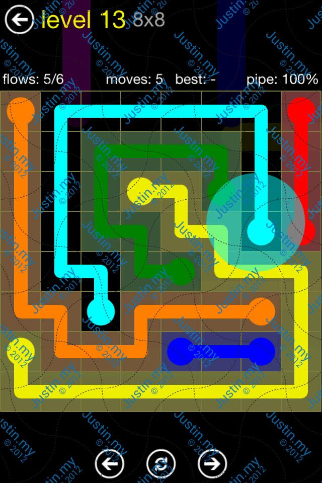 Flow Free Regular Pack 8x8 Level 13