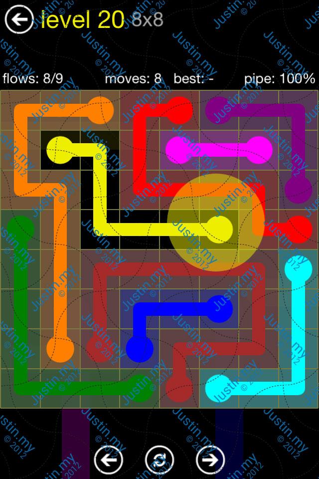 Flow Free Regular Pack 8x8 Level 20