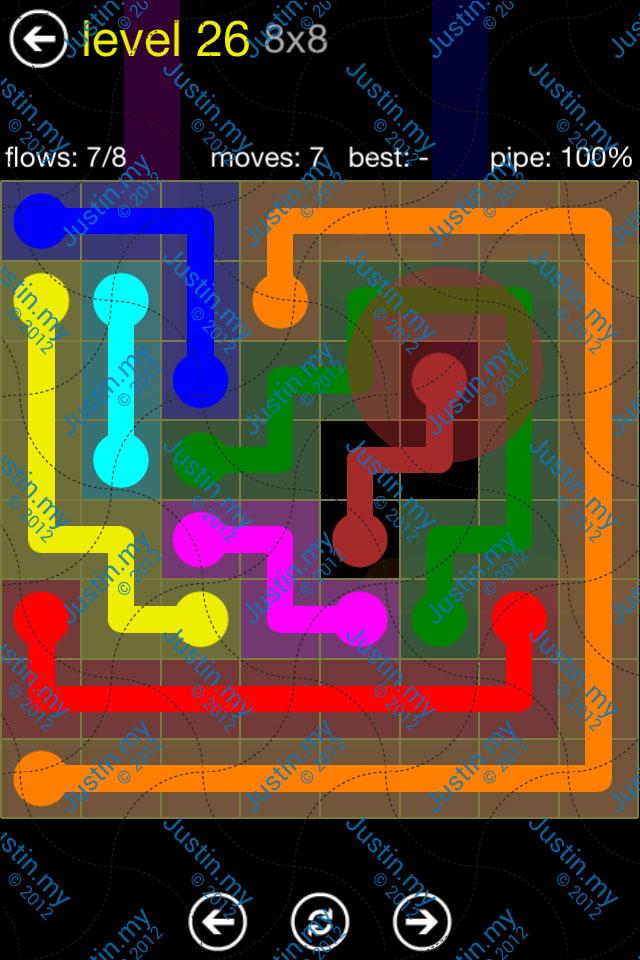Flow Free Regular Pack 8x8 Level 26