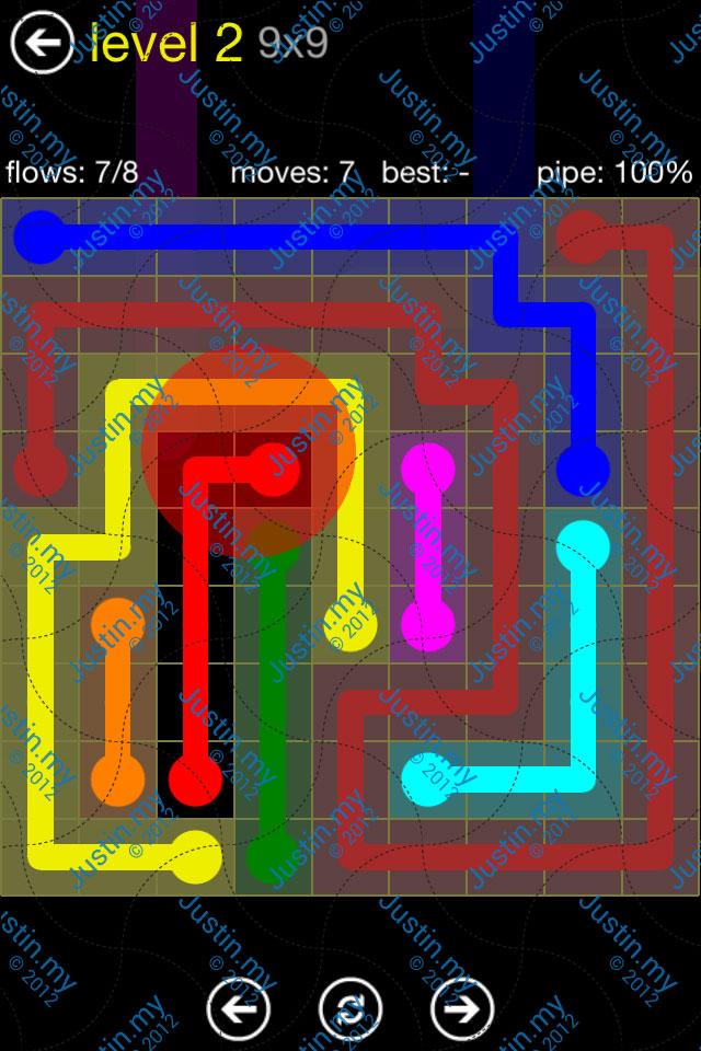 Flow Free Regular Pack 9x9 Level 02