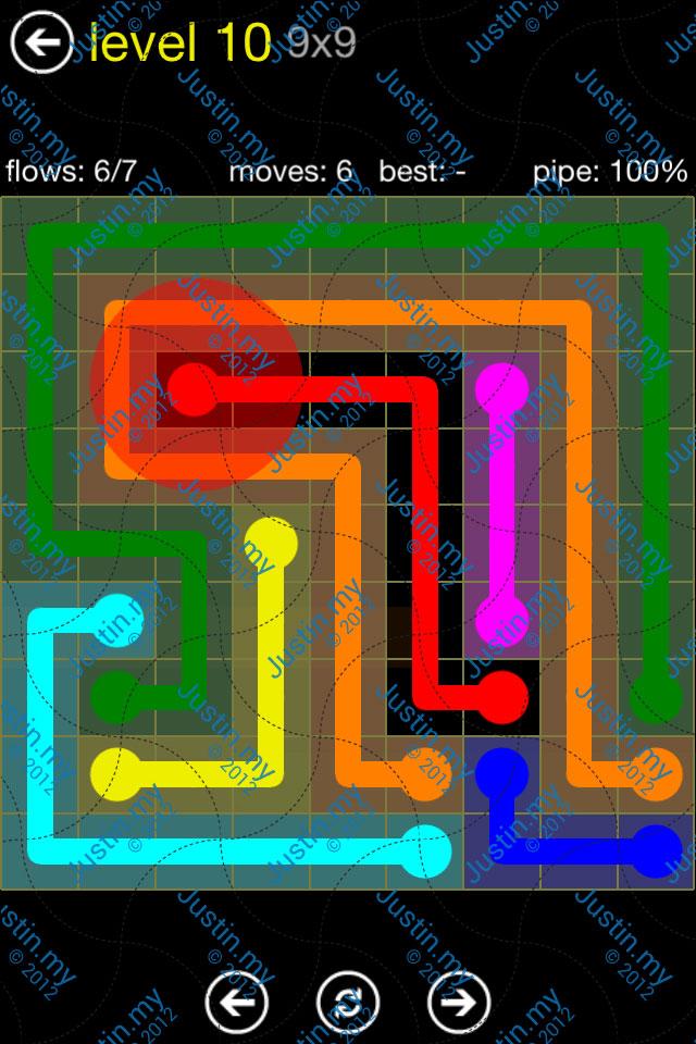 Flow Free Regular Pack 9x9 Level 10
