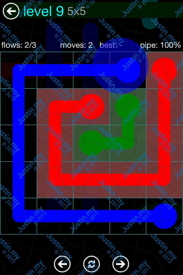 Flow Game Blue Pack 5x5 Level 09