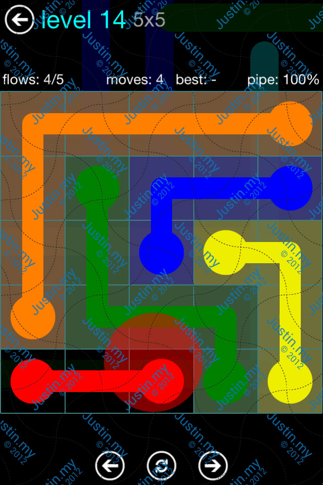 Flow Game Blue Pack 5x5 Level 14